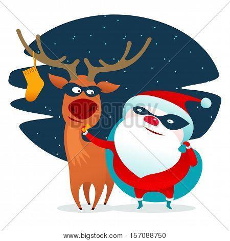 Santa Claus Masked Superhero