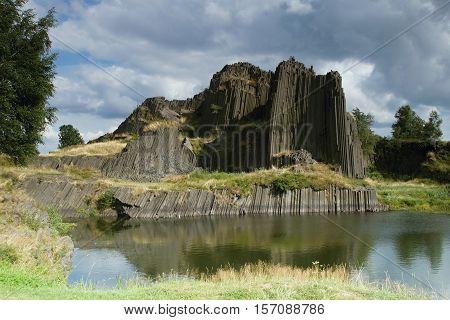 Basalt Organ Pipes - national Natural Monument of Panska Skala near Kamenicky Senov in the Czech Republic.
