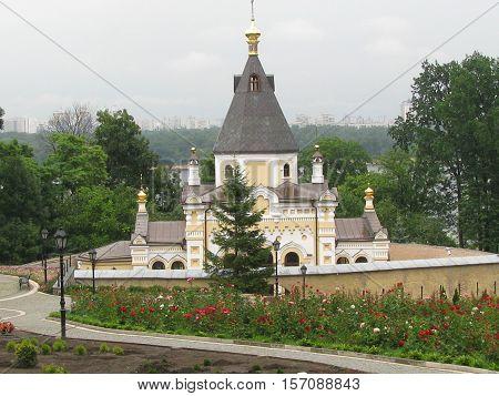 Church in kiev orthodox monastery pecherskaya lavra.