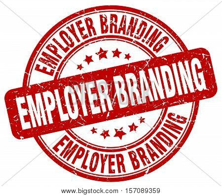 employer branding. stamp. square. grunge. vintage. isolated. sign