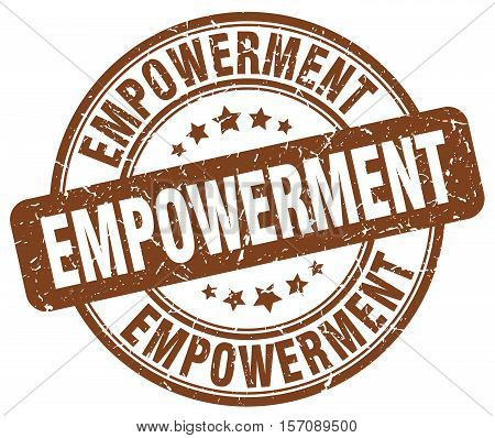 empowerment. stamp. square. grunge. vintage. isolated. sign