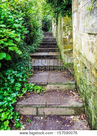 Hdr Stairway To Alexandra Park In Bath