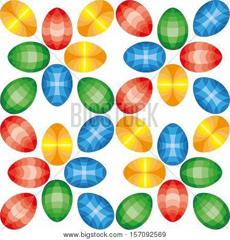 Beautiful Easter Egg Seamless Pattern Background Vector Illustration EPS10