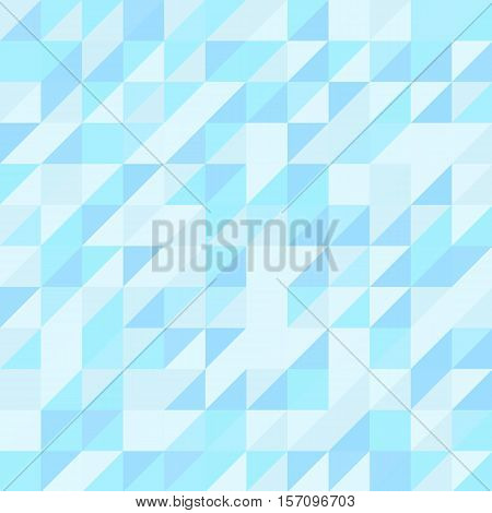 Blue triangle seamless pattern. Geometric abstract background