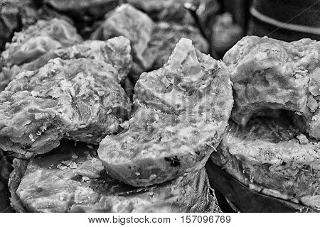 jaggery - blocks of dark brown cane sugar