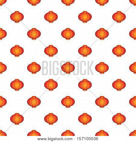 Oriental red lantern pattern. Cartoon illustration of oriental red lantern vector pattern for web