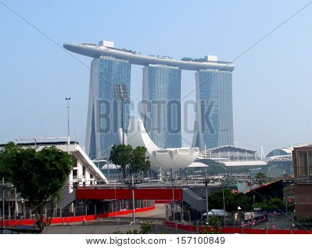 The F1 Track and Marina Bay Sands, Singapore Taken in September 2015