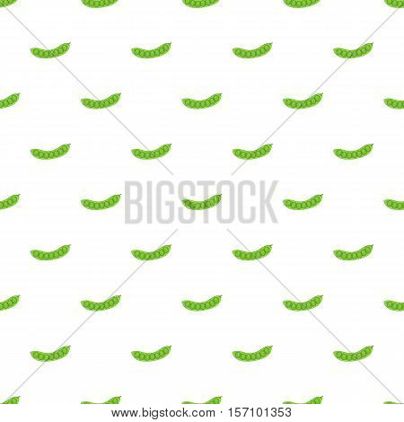 Fresh green peas pattern. Cartoon illustration of fresh green peas vector pattern for web