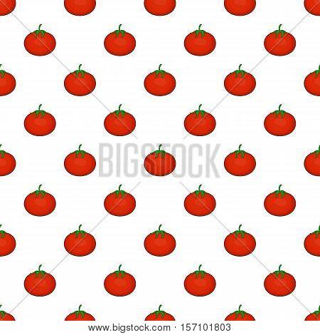 Tomato pattern. Cartoon illustration of tomato vector pattern for web