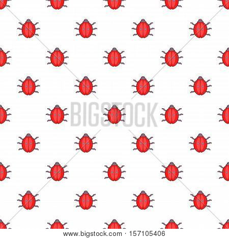 Ladybug pattern. Cartoon illustration of ladybug vector pattern for web