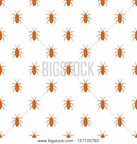 Cockroach pattern. Cartoon illustration of cockroach vector pattern for web