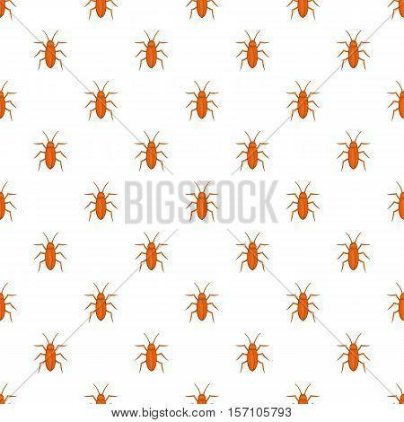 Cockroach pattern. Cartoon illustration of cockroach vector pattern for web