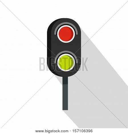Semaphore trafficlight icon. Flat illustration of semaphore vector icon for web design