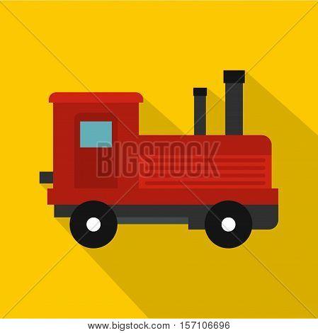 Locomotive icon. Flat illustration of locomotive vector icon for web design