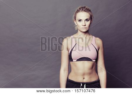 Sporty Fit Fitness Woman