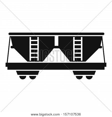 Freight railroad car icon. Simple illustration of freight railroad car vector icon for web design