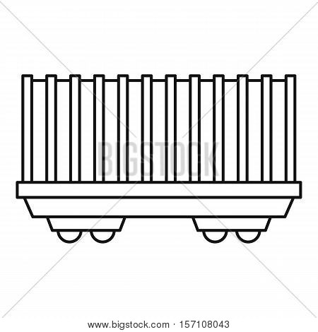 Cargo wagon icon. Outline illustration of cargo wagon vector icon for web design