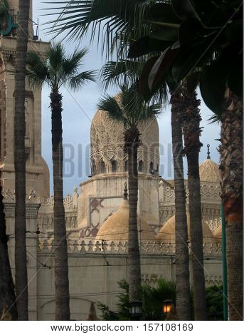 photos of the landscape, with the prospect of the Royal Palace of Ras-el-Tin in Alexandria (Egypt)