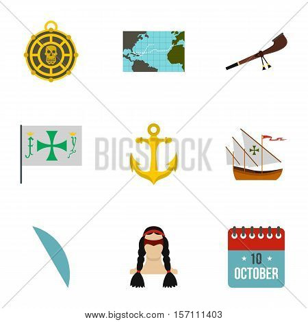 Geography icons set. Flat illustration of 9 geography vector icons for web