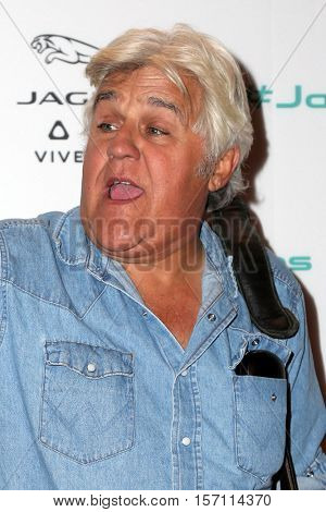 LOS ANGELES - NOV 14:  Jay Leno at the Unveiling Next Era Jaguar Vehicle at Milk Studios on November 14, 2016 in Los Angeles, CA