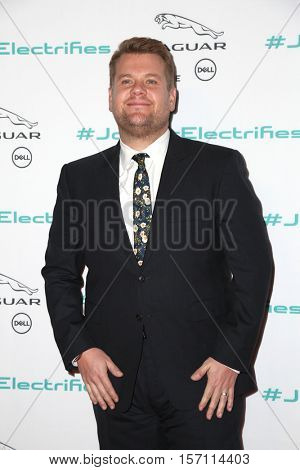 LOS ANGELES - NOV 14:  James Corden at the Unveiling Next Era Jaguar Vehicle at Milk Studios on November 14, 2016 in Los Angeles, CA