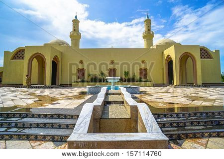 Ash Shaliheen Mosque at Brunei on 10th Nov 2016.The design of this mosque is different compared to other mosque in Brunei Darussalam & based on the Moorish Andalusia architecture.