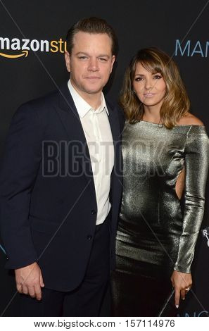 LOS ANGELES - NOV 14:  Matt Damon, Luciana Barroso at the