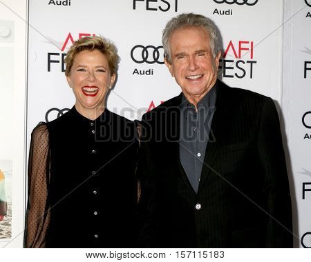 LOS ANGELES - NOV 16:  Annette Bening, Warren Beatty at the A Tribute To Annette Bening And Gala Screening of