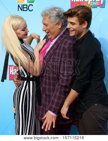 LOS ANGELES - NOV 16:  Dove Cameron, Harvey Fierstein, Garrett Clayton at the