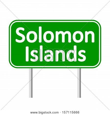 Solomon Island road sign isolated on white background.