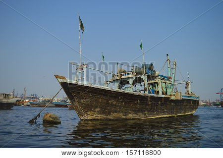 A fishing boat in Karachi, Sindh, Pakistan