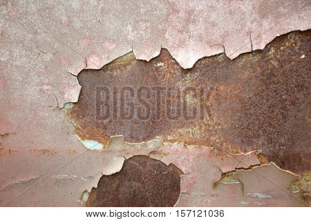 close up rusty wall texture for background
