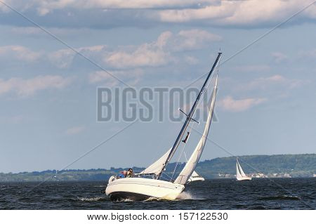 Sailbot On A Lake