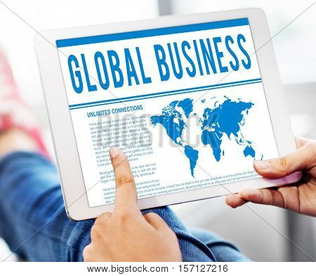 Global Business Corporate B2B Merchandise Concept