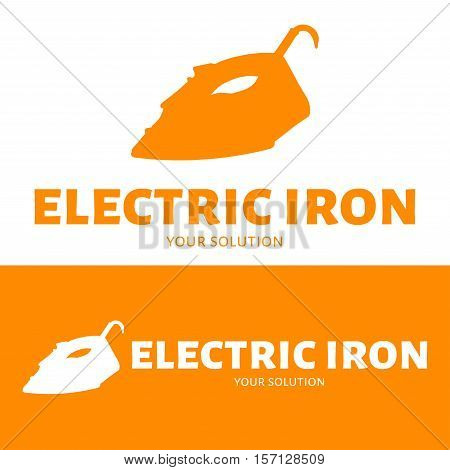Vector logo iron. Brand's logo in the form of iron.