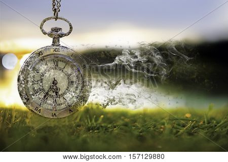 Time is passing (Concept of wasting time)