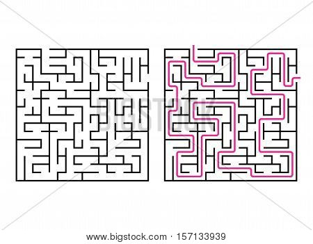 Vector labyrinth. Maze / Labyrinth with ehtry and exit.