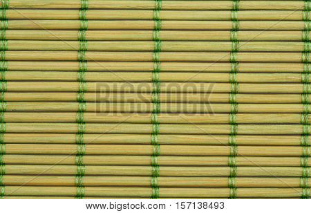 Wooden place mat texture for background close-up image.