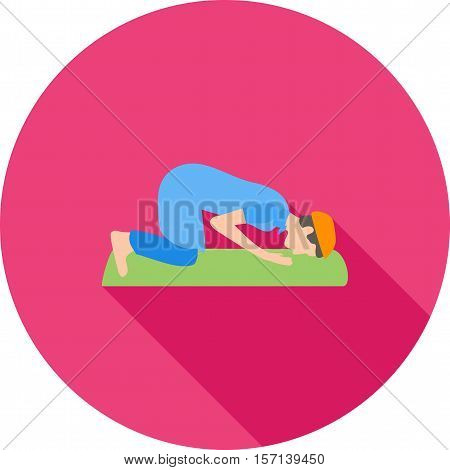 Islamic, namaz, sajdah icon vector image. Can also be used for islamic. Suitable for mobile apps, web apps and print media.