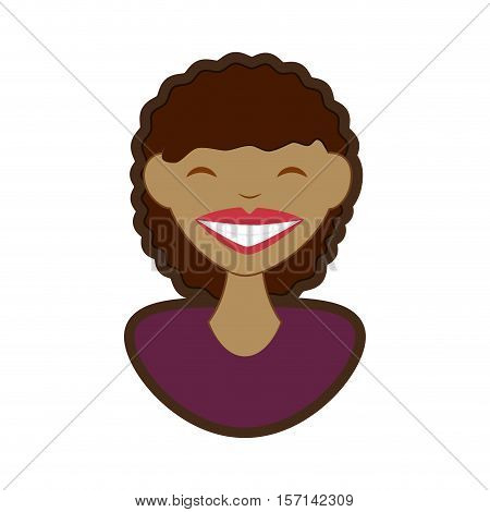 woman smile character icon vector illustration design