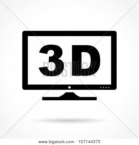 Illustration of three dimensions icon on white background