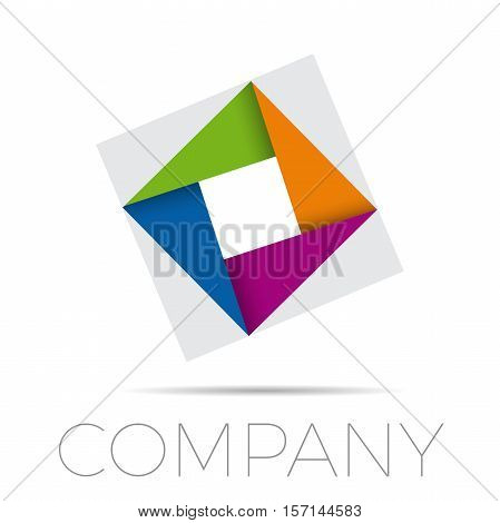 Vector sign photographer the diaphragm, logo in abstract shape