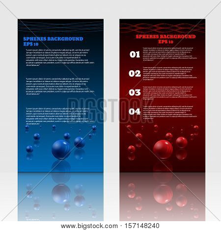 Vertical Flyers Abstract Spheres Design Medical Background For Banner Or Poster Vector Illustration
