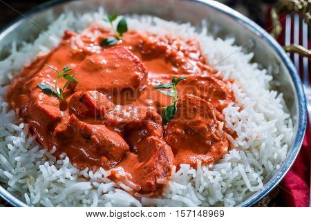 Delicious Tikka Masala With Rice And Chicken