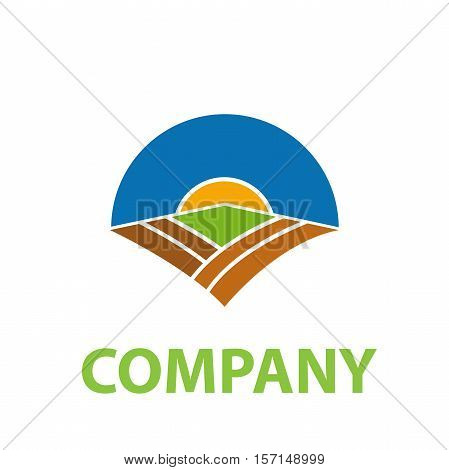 Vector sign Organic farming in abstract shape