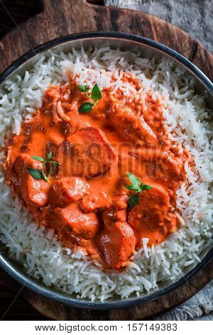 Sweet And Spicy Tikka Masala With Rice And Chicken