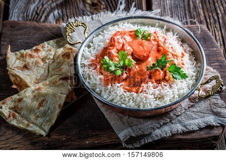 Indian Tikka Masala With Chicken In Tomato Sauce