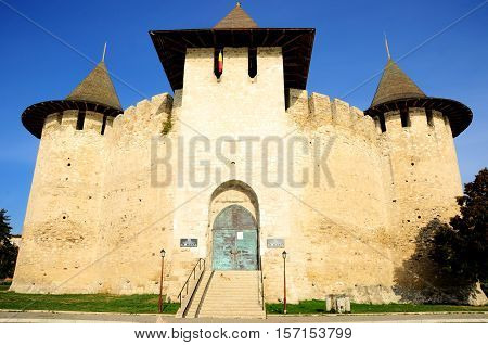 Architectural details of medieval fort in Soroca Republic of Moldova. Fort built in 1499 by Moldavian Prince Stephen the Great.