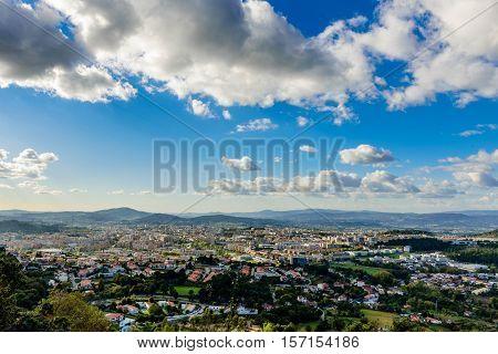 Praga Portugal. Panoramic view from Bom Jesus do Monte