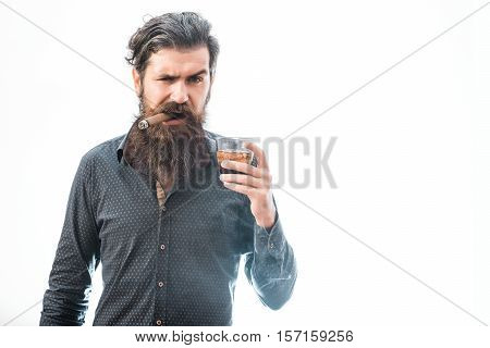 Man With Cigar And Whiskey